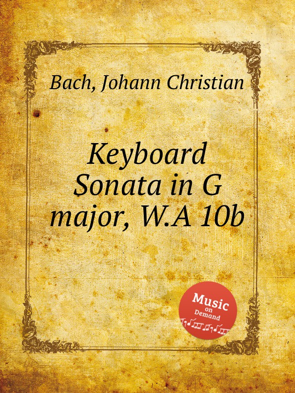J.C. Bach Keyboard Sonata in G major, W.A 10b