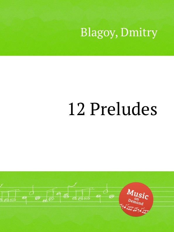D. Blagoy 12 Preludes d blagoy contrasts