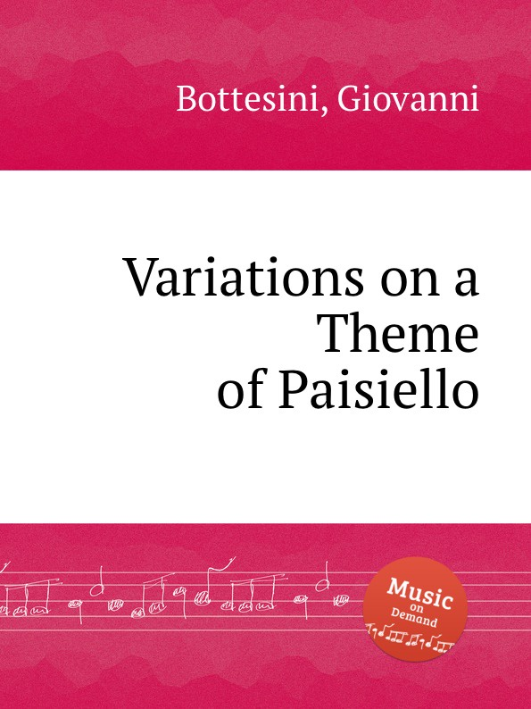 G. Bottesini Variations on a Theme of Paisiello j d wael variations on the famous bass line by pachelbel