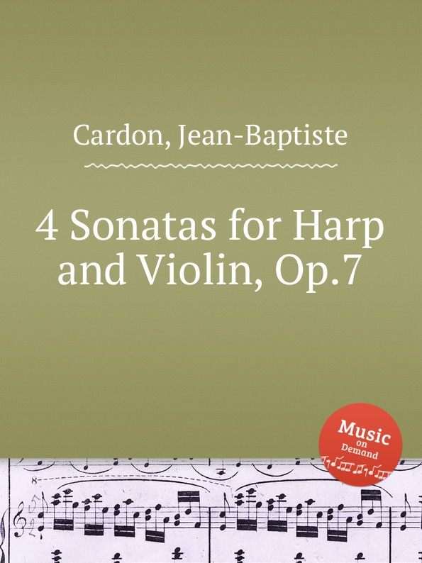 J. B. Cardon 4 Sonatas for Harp and Violin, Op.7