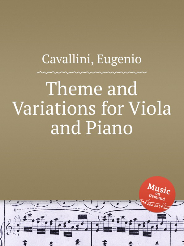 лучшая цена E. Cavallini Theme and Variations for Viola and Piano