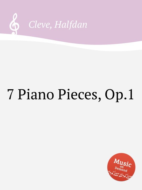 H. Cleve 7 Piano Pieces, Op.1