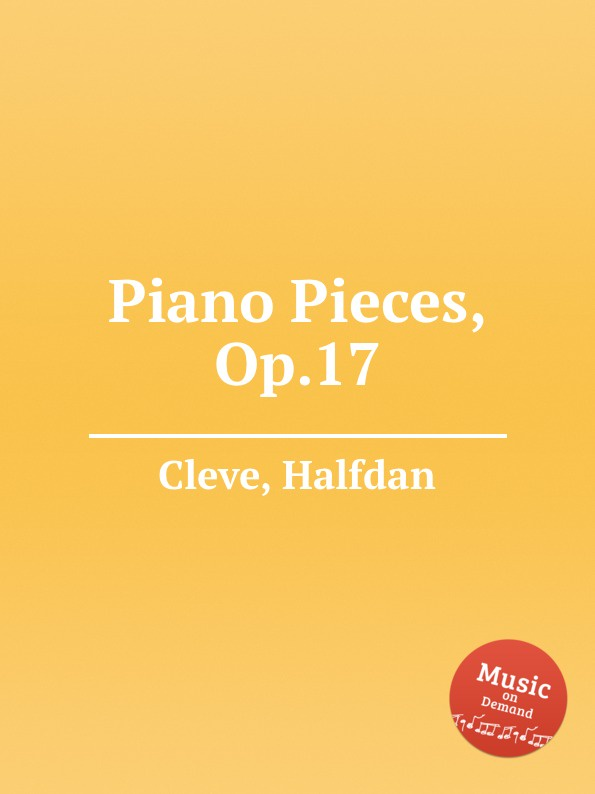 H. Cleve Piano Pieces, Op.17