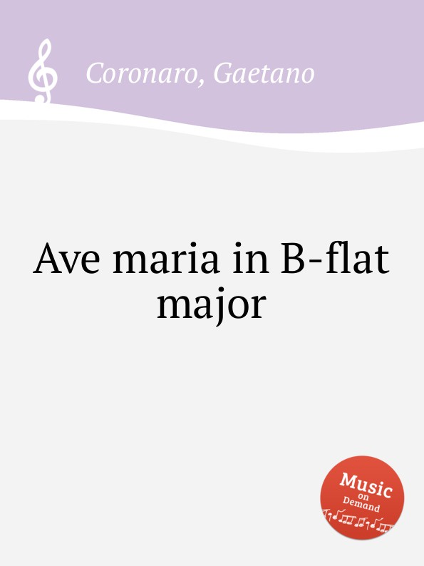 G. Coronaro Ave maria in B-flat major b tromboncino ave maria