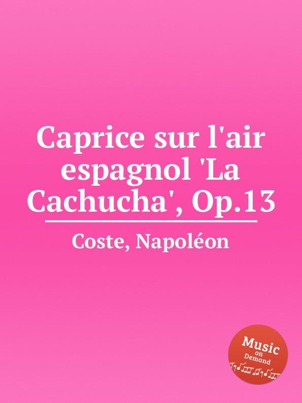 N. Coste Caprice sur l.air espagnol .La Cachucha., Op.13 n coste caprice sur l air espagnol la cachucha op 13
