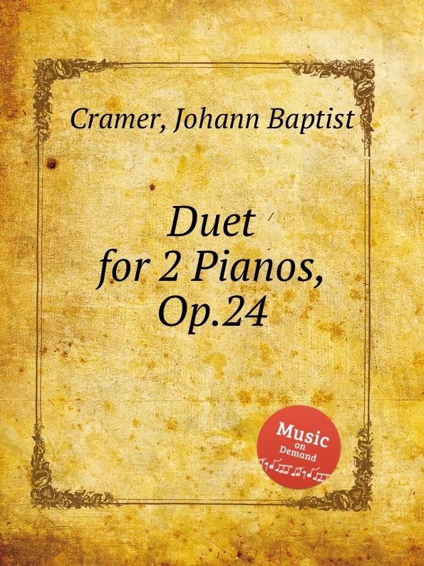 J. B. Cramer Duet for 2 Pianos, Op.24 j b cramer duet for 2 pianos op 24
