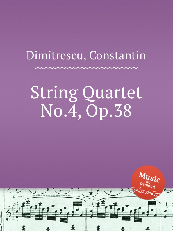 цена C. Dimitrescu String Quartet No.4, Op.38 в интернет-магазинах