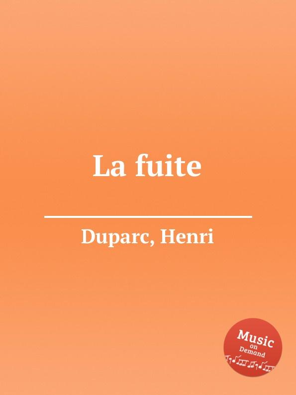 H. Duparc La fuite
