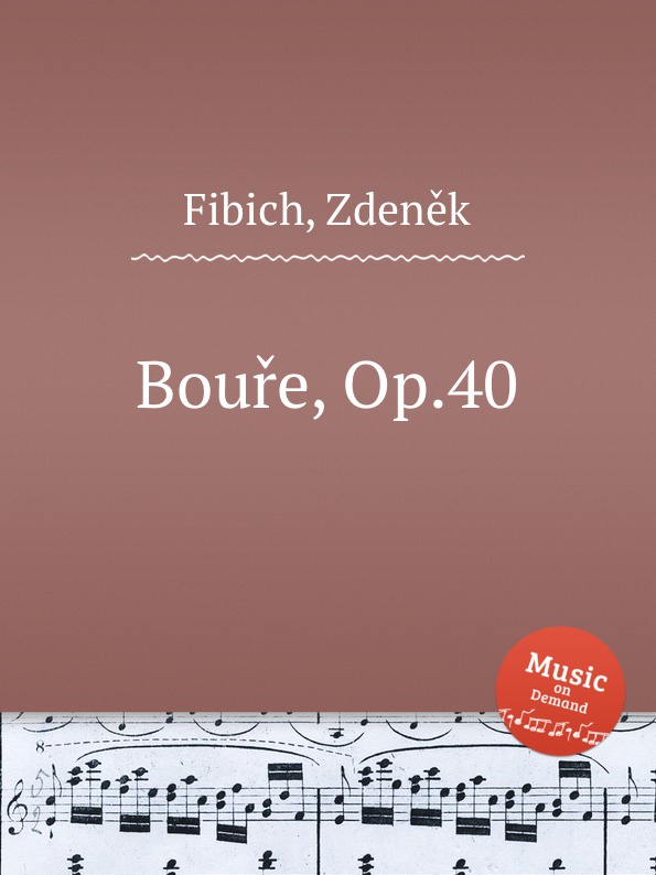 Z. Fibich Boure, Op.40 цена