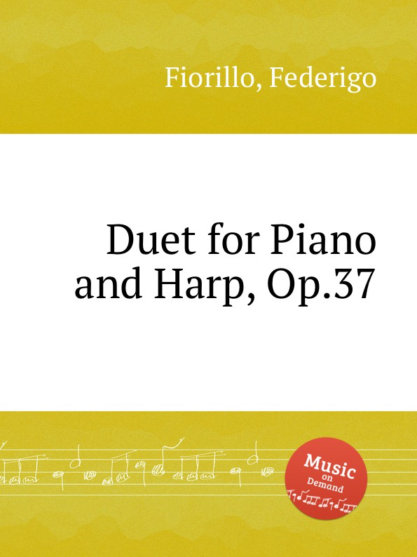 F. Fiorillo Duet for Piano and Harp, Op.37 the grass harp