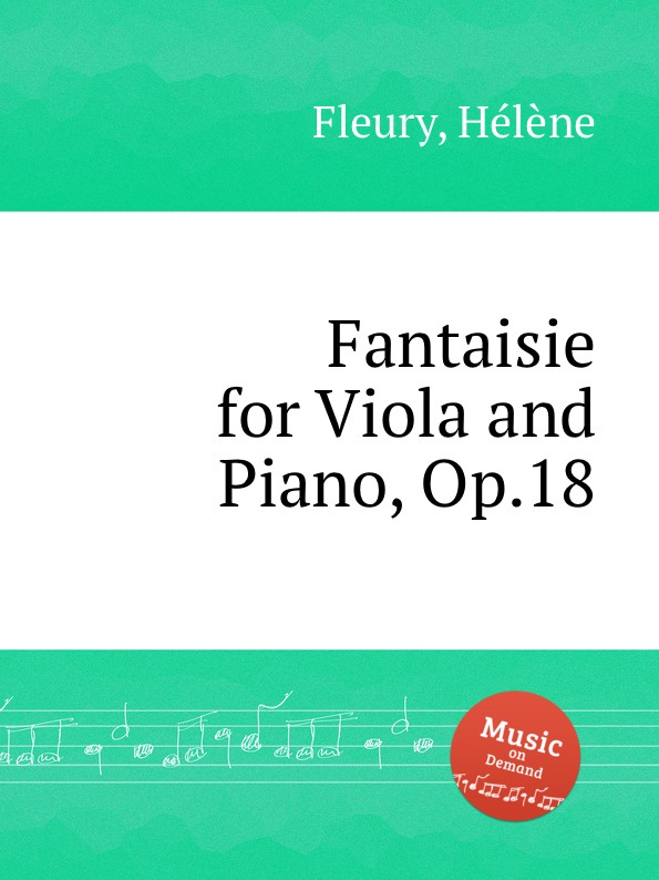 лучшая цена H. Fleury Fantaisie for Viola and Piano, Op.18