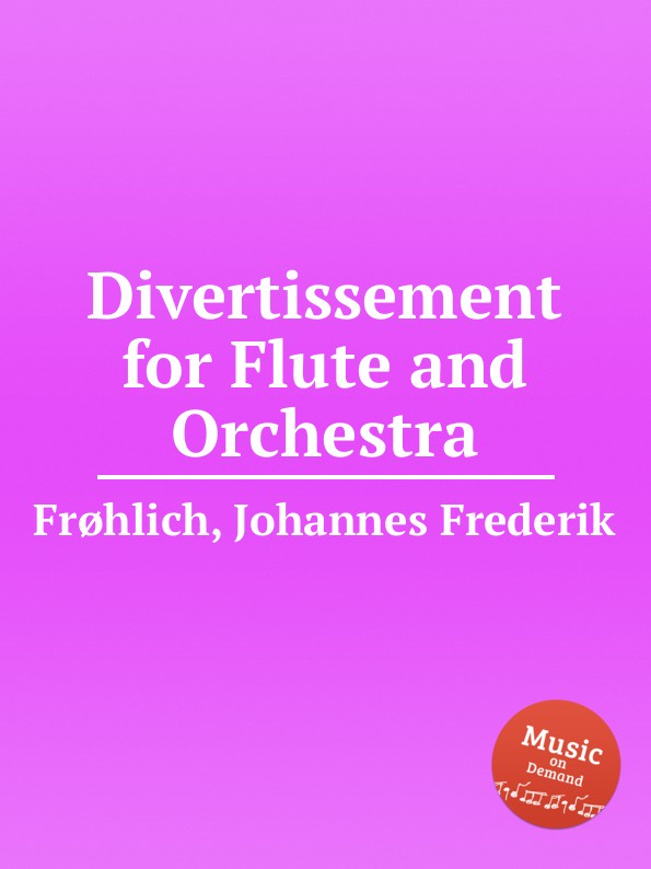 J.F. Froehlich Divertissement for Flute and Orchestra traditional handcrafted bamboo flute with flute diaphragm and soft pouch e key