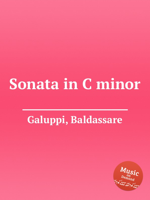 B. Galuppi Sonata in C minor j garreta piano sonata in c minor