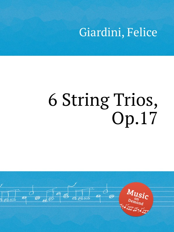 F. Giardini 6 String Trios, Op.17 цена и фото