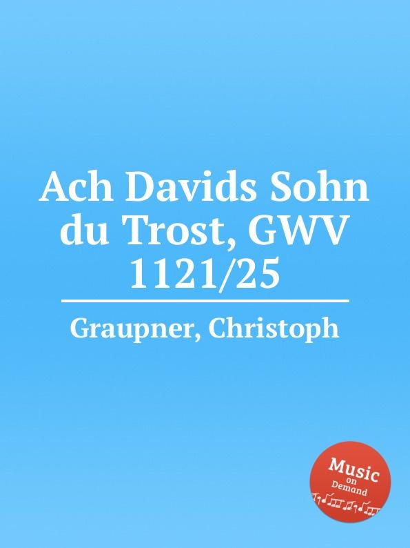 C. Graupner Ach Davids Sohn du Trost, GWV 1121/25 c graupner verdamme mich nicht gwv 1121 39