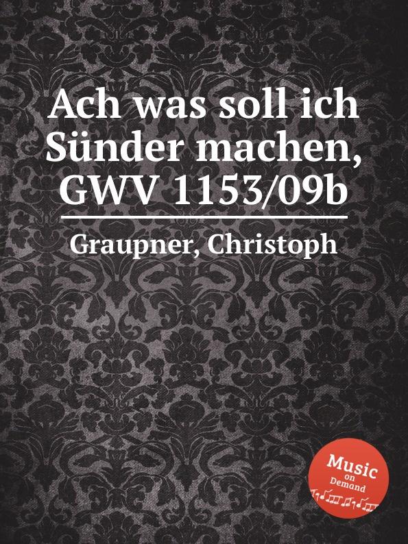C. Graupner Ach was soll ich Sunder machen, GWV 1153/09b c graupner ach welchen jammer bringt die sunde gwv 1153 43