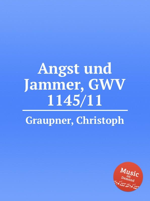 C. Graupner Angst und Jammer, GWV 1145/11 c graupner ach welchen jammer bringt die sunde gwv 1153 43