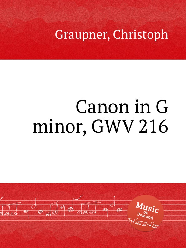 C. Graupner Canon in G minor, GWV 216