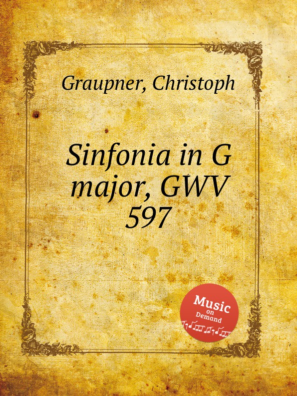 C. Graupner Sinfonia in G major, GWV 597 c graupner trio sonata in b flat major gwv 217