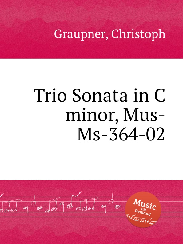 C. Graupner Trio Sonata in C minor, Mus-Ms-364-02