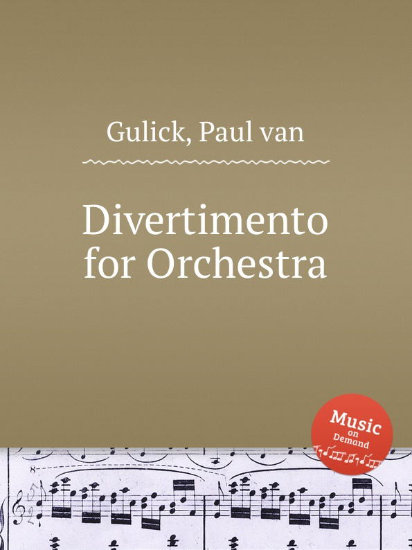 P.v. Gulick Divertimento for Orchestra цена