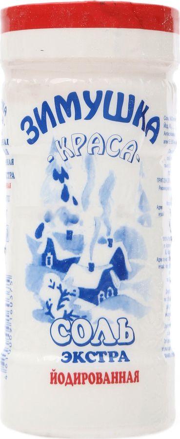 Соль йодированная Зимушка-краса, в банке, 500 г Зимушка-краса