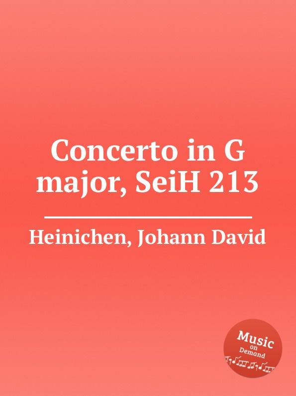 J.D. Heinichen Concerto in G major, SeiH 213 j d heinichen sinfonia in d major seih 207