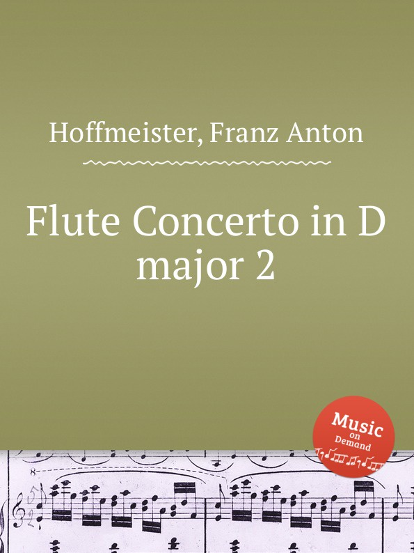 F.A. Hoffmeister Flute Concerto in D major 2 f a hoffmeister flute duet in d major