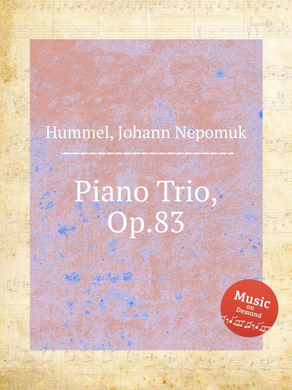 лучшая цена J.N. Hummel Piano Trio, Op.83