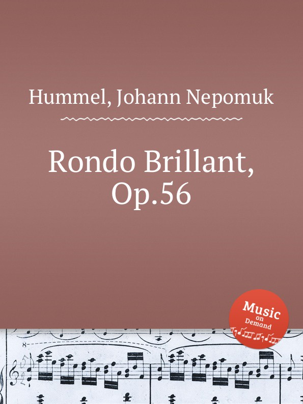 J.N. Hummel Rondo Brillant, Op.56 недорого