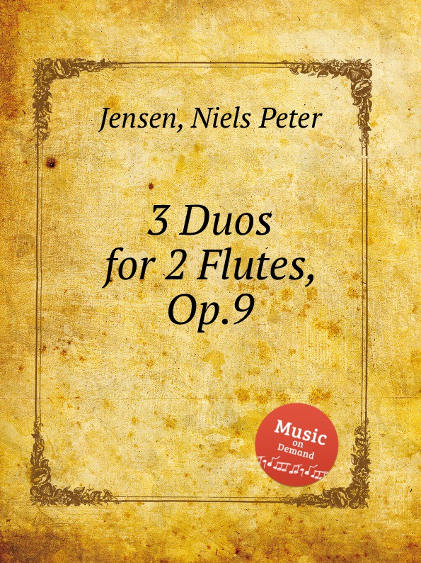 N.P. Jensen 3 Duos for 2 Flutes, Op.9 n p jensen 3 duos for 2 flutes op 9