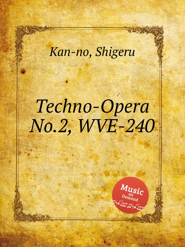 S. Kan-no Techno-Opera No.2, WVE-240 s kan no techno opera no 2 wve 240
