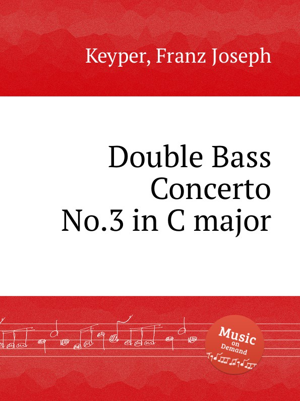 F.J. Keyper Double Bass Concerto No.3 in C major new original langsdom n3 brand bass earphone stereo headset good bass earbuds 3 colors with mic for smart phone mp3 mp4 xiaomi