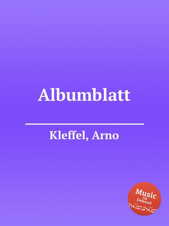 A. Kleffel Albumblatt