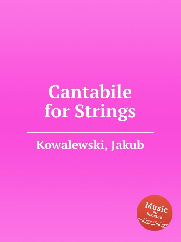 J. Kowalewski Cantabile for Strings цена в Москве и Питере