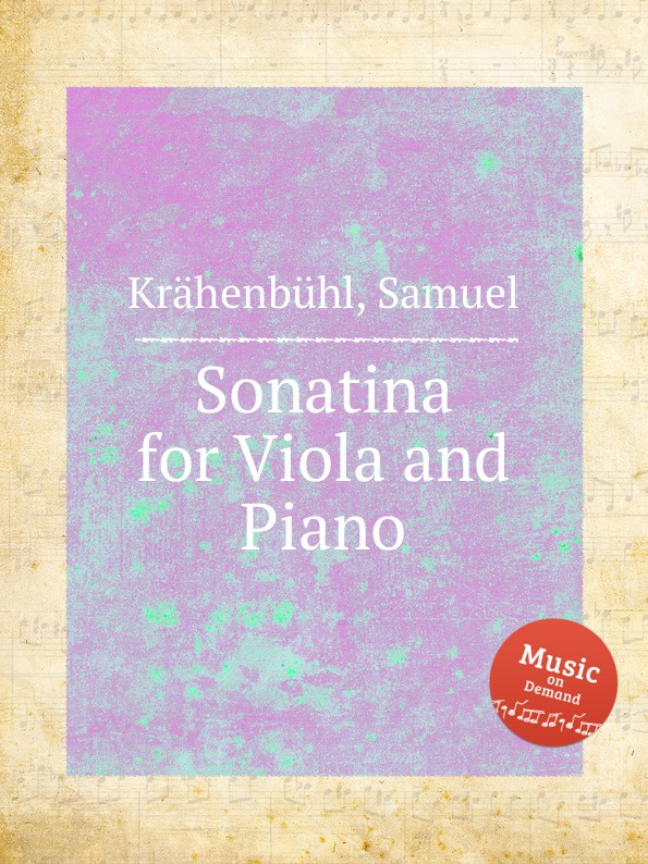 S. Krähenbühl Sonatina for Viola and Piano