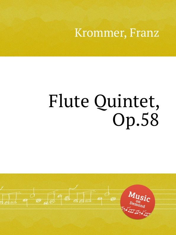 F. Krommer Flute Quintet, Op.58 f krommer clarinet quintet op 95