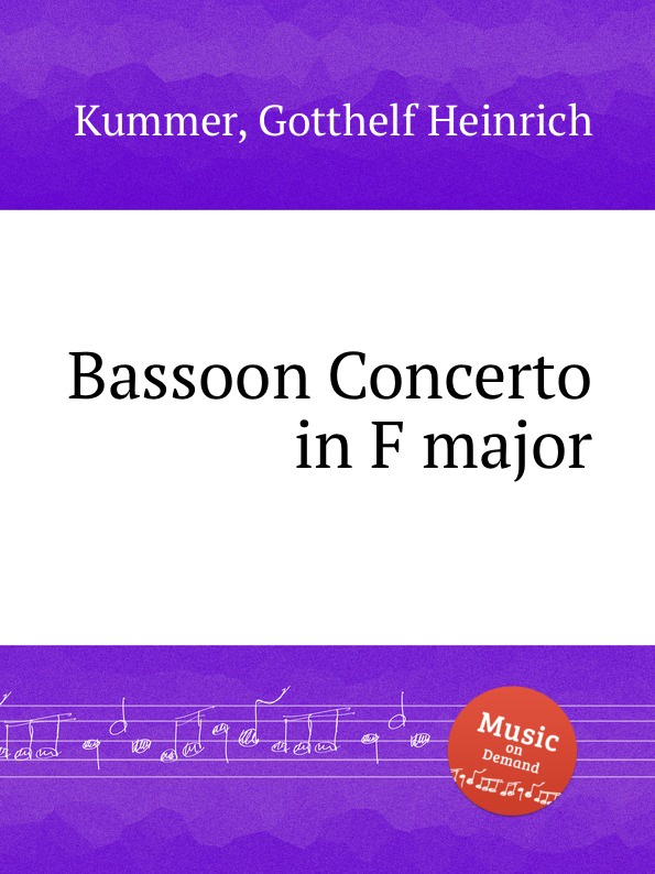 G.H. Kummer Bassoon Concerto in F major kummer frederic arnold the ivory snuff box
