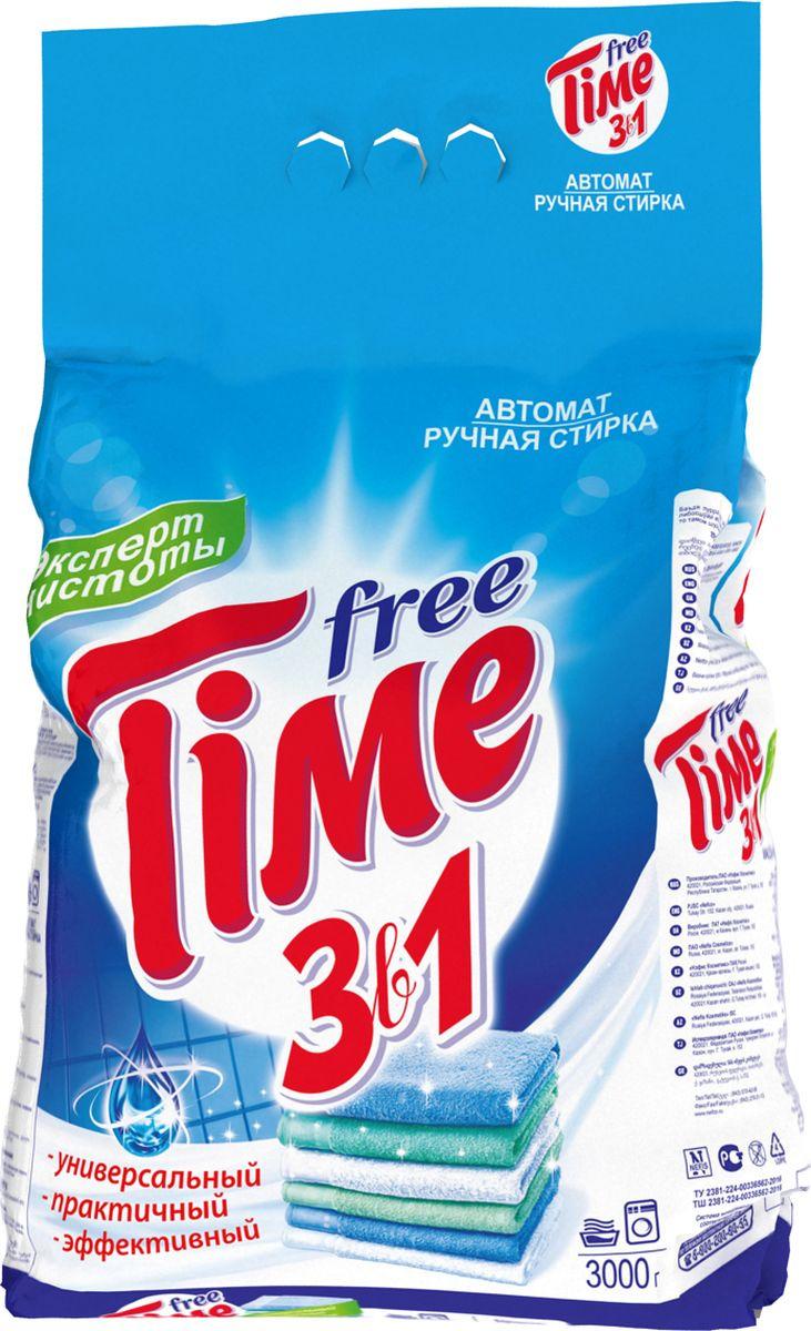 Стиральный порошок Free Time 3 в 1, 3555М, 3 кг free shipping 20pcs az1084s 3 3e1 az1084 to263 3