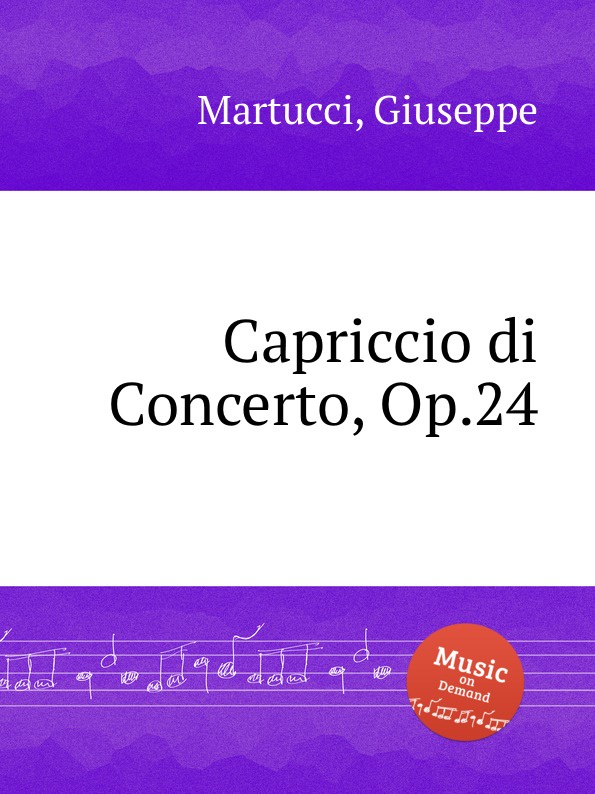 G. Martucci Capriccio di Concerto, Op.24 g martucci tempo di mazurka op 11