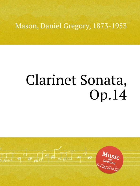 цена M.D. Gregory Clarinet Sonata, Op.14 в интернет-магазинах