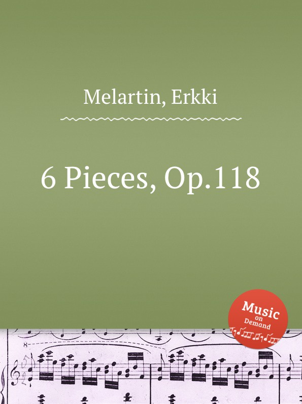 E. Melartin 6 Pieces, Op.118 e melartin 6 pieces op 129