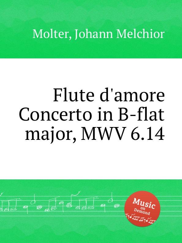 J. M. Molter Flute d.amore Concerto in B-flat major, MWV 6.14 недорого