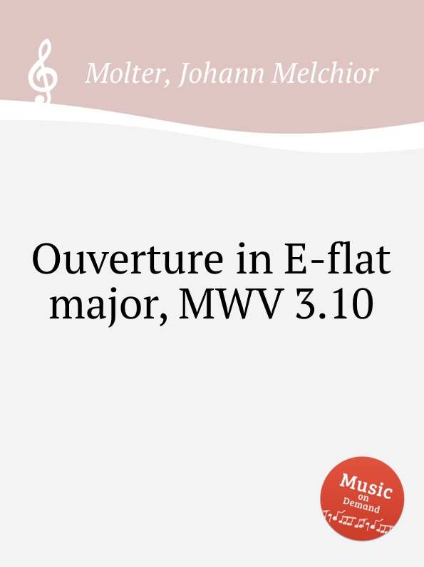 лучшая цена J. M. Molter Ouverture in E-flat major, MWV 3.10