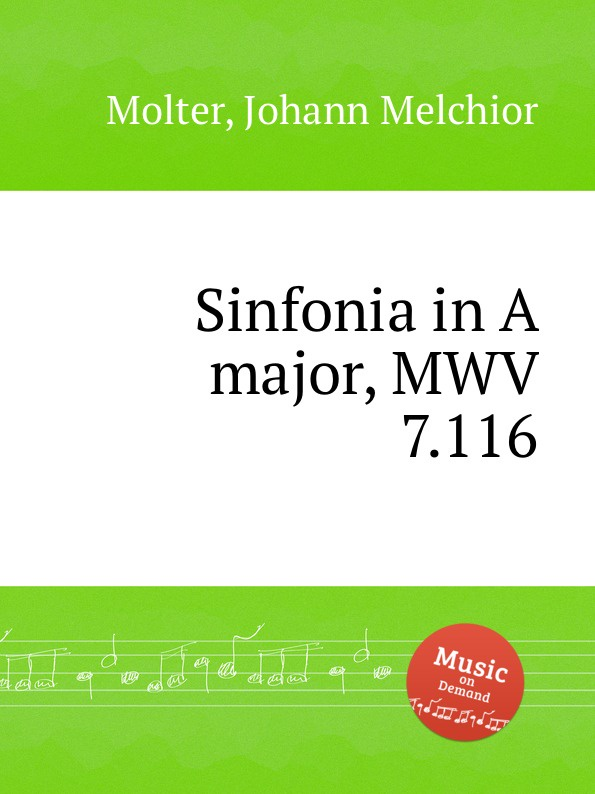 J. M. Molter Sinfonia in A major, MWV 7.116