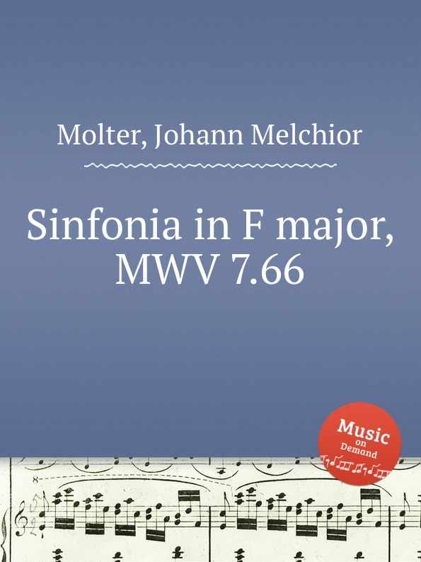 цена J. M. Molter Sinfonia in F major, MWV 7.66 в интернет-магазинах