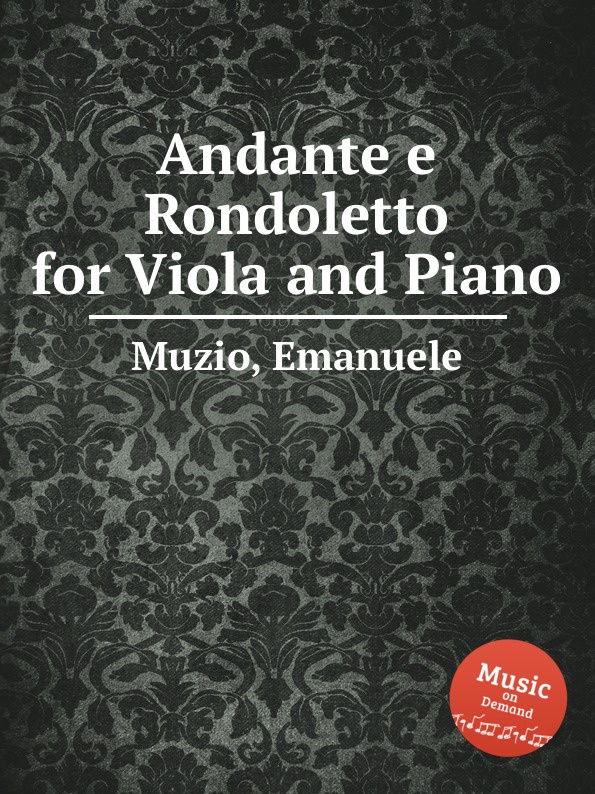 лучшая цена E. Muzio Andante e Rondoletto for Viola and Piano