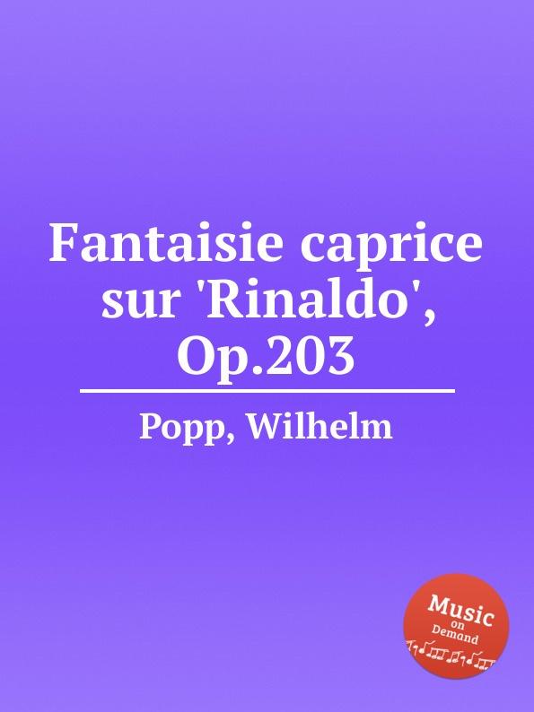 W. Popp Fantaisie caprice sur .Rinaldo., Op.203 m carcassi fantaisie sur les motifs du serment op 45