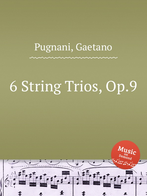 G. Pugnani 6 String Trios, Op.9 цена и фото