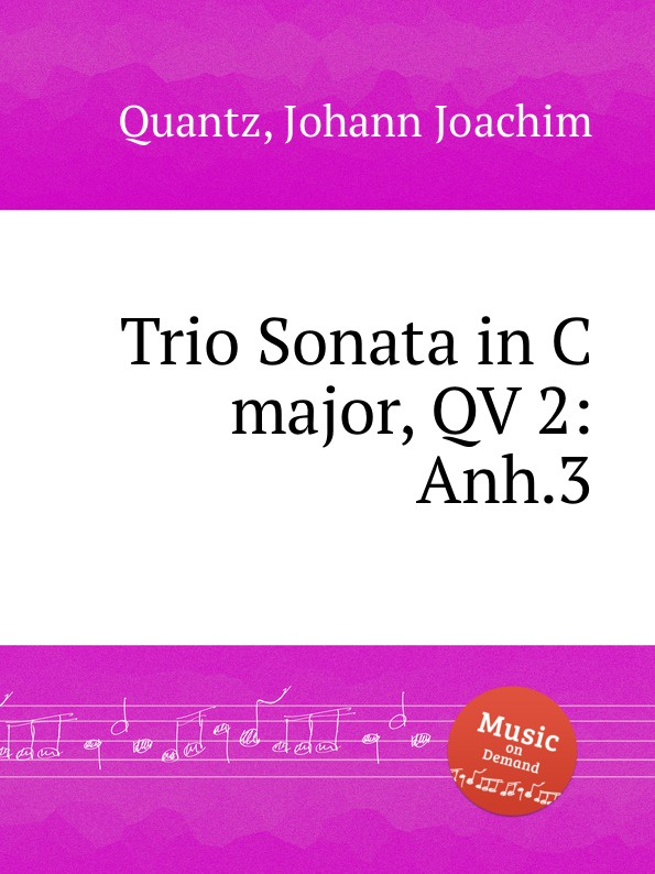 цена J.J. Quantz Trio Sonata in C major, QV 2:Anh.3 в интернет-магазинах